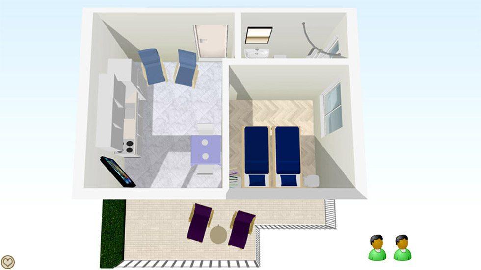 Leiligheten Suite Layout